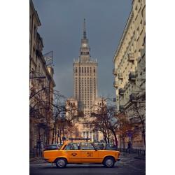 Plakat Fiat 125 na tle...